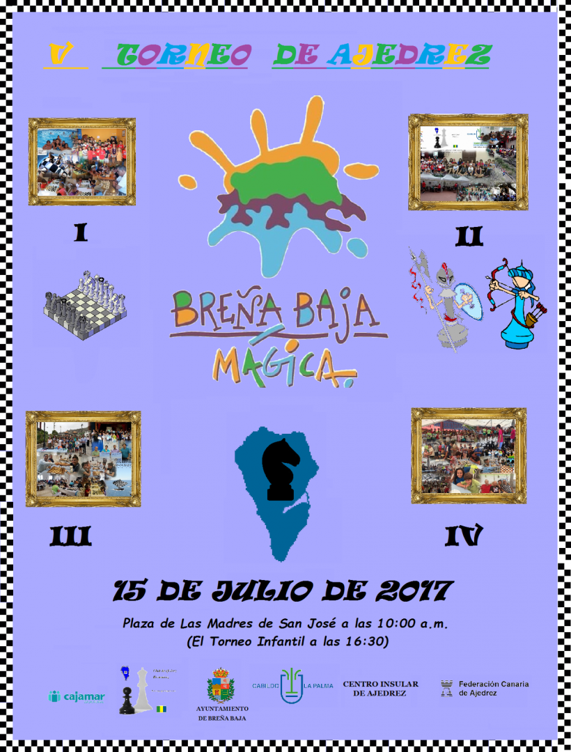 CARTEL V FESTIVAL DE AJEDREZ BREÑA BAJA MÁGICADEF